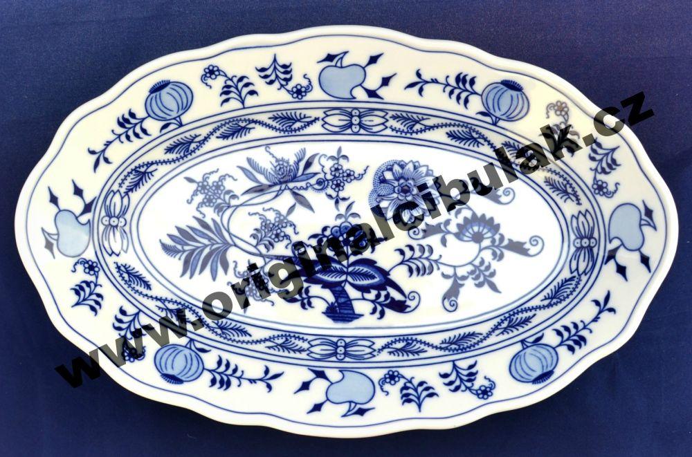 Cibulák misa šalátová oválna 24 cm cibulový porcelán, originálny cibulák Dubí 1. akosť