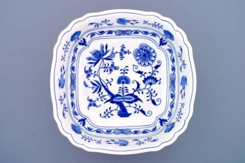 Cibulák misa šalátová štvorhranná talianska 26 cm cibulový porcelán, originálny cibulák Dubí 1. akosť