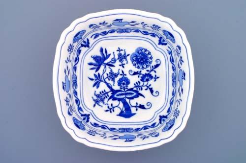 Cibulák misa šalátová štvorhranná talianska 21 cm cibulový porcelán, originálny cibulák Dubí 1. akosť