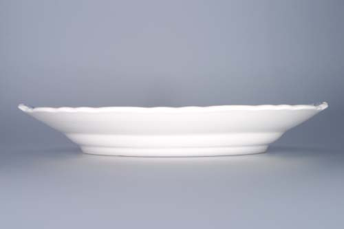 Cibulák tanier koláčový s ušami 28 cm cibulový porcelán, originálny cibulák Dubí 1. akosť