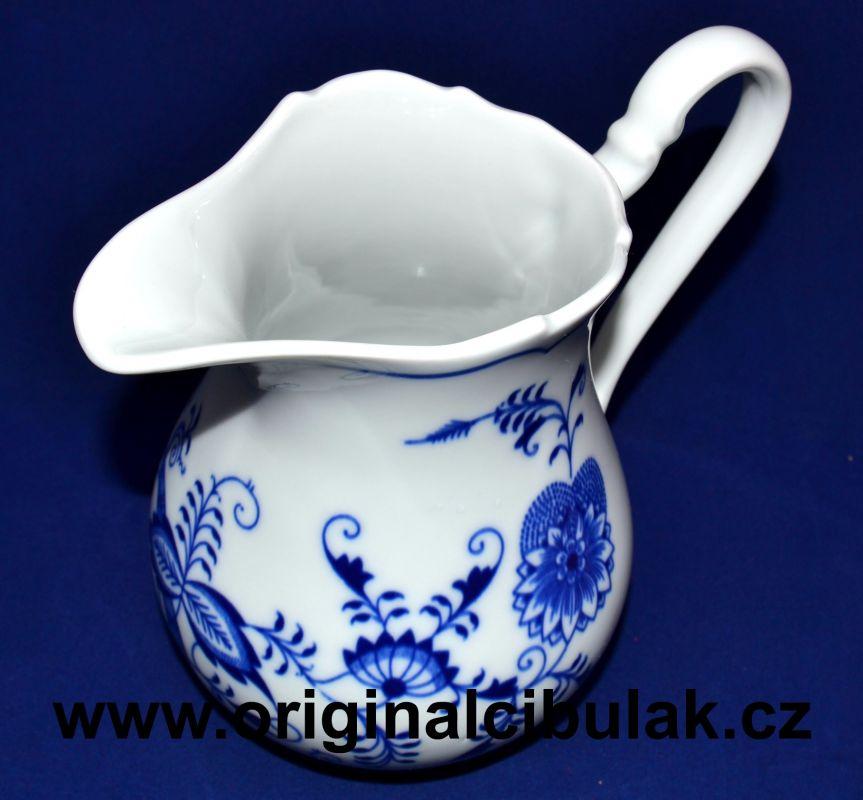 Cibulák mliekovka vysoká 0,85 l cibulový porcelán, originálny cibulák Dubí 1. akosť