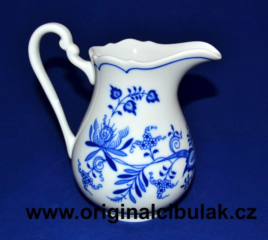 Cibulák mliekovka vysoká 0,50 l cibulový porcelán, originálny cibulák Dubí 1. akosť