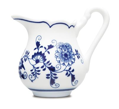 Cibulák mliekovka vysoká 0,16 l cibulový porcelán, originálny cibulák Dubí 1. akosť