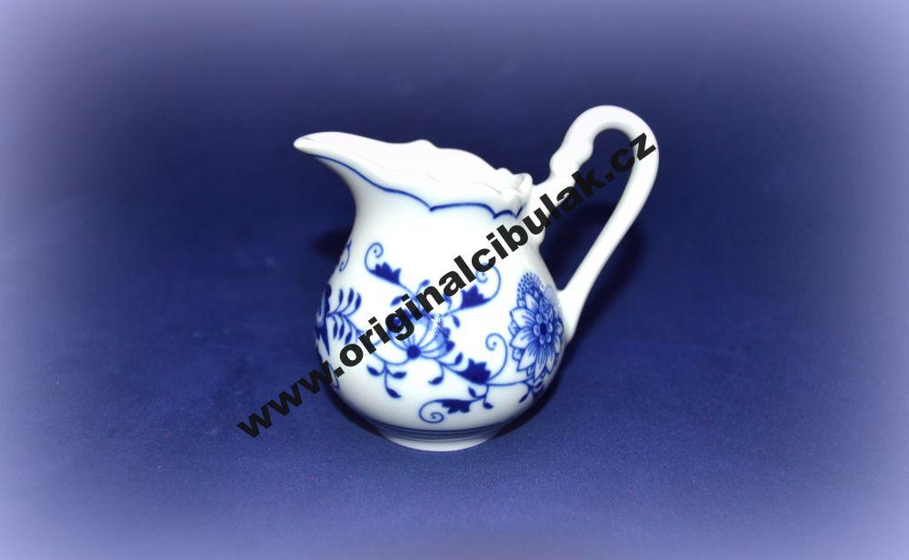 Cibulák mliekovka vysoká 0,08 l cibulový porcelán, originálny porcelán Dubí, 1. akosť