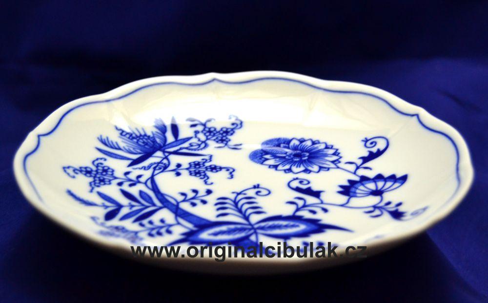 Cibulák podšálka bujón 17,5 cm cibulový porcelán, originálny cibulák Dubí 1. akosť