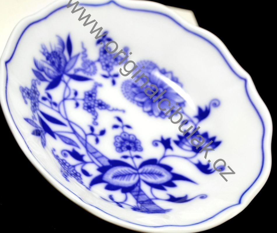 Cibulák podšálka A / 1 13 cm cibulový porcelán, originálny cibulák Dubí 1. akosť