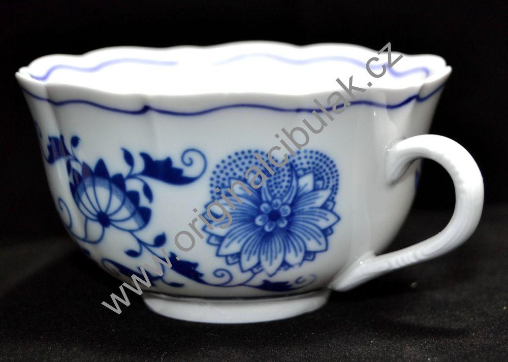 Cibulák šálka nízka C / 1 0,20 l cibulový porcelán, originálny cibulák Dubí 1. akosť