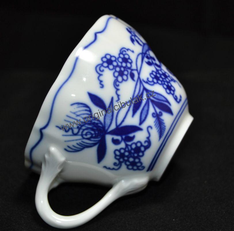 Cibulák šálka vysoká A / 1 0,12 l cibulový porcelán, originálny cibulák Dubí 1. akosť