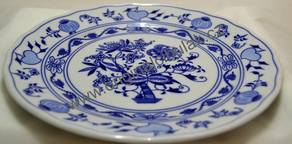 Cibulák tanier plytký 26 cm cibulový porcelán, originálny cibulák Dubí 1. akosť