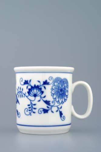 Cibulák hrnček Gaston M s linkami 0,22 l cibuľový porcelán, originálny cibuľák Dubí, 1. akosť