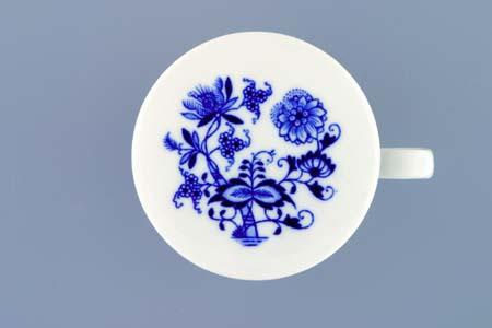 Cibulák viečko prekrývacie 9,6 cm cibulový porcelán, originálny cibulák Dubí 1. akosť