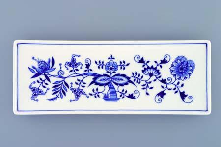 Cibulák miska na ryby, plochá 27,4 x 10,4 cm cibulový porcelán, originálny cibulák Dubí, 1. akosť