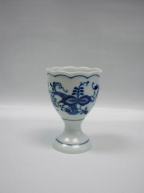 Cibulák kalíšok na vajcia bez podstavca, veľký (balenie po jednom kuse) 6,5 cm cibulový porcelán, originálny cibulák Dubí 1. akosť