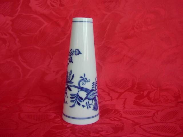 Cibulák váza úzka 15 cm cibulový porcelán, originálny cibulák Dubí 1. akosť