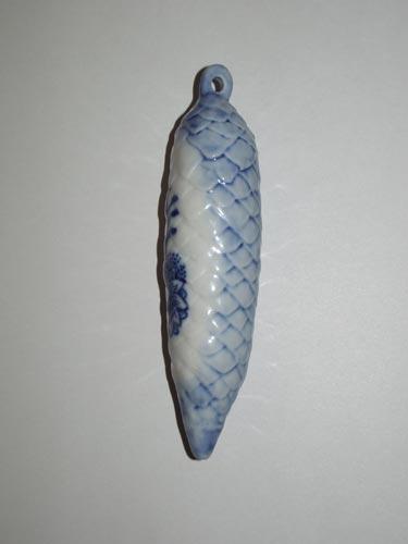 Cibulák vianočná ozdoba šiška 11 cm cibulový porcelán, originálny cibulák Dubí 1. akosť