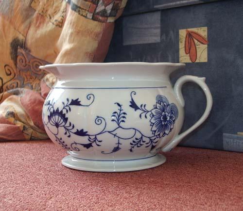 Cibulák nočník 21 cm cibulový porcelán, originálny cibulák Dubí 1. akosť