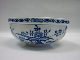 Cibulák misa malá 17,1 cm cibulový porcelán, originálny cibulák Dubí 1. akosť