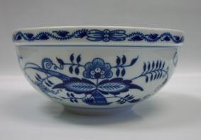 Cibulák misa guľatá veľká 20 cm cibulový porcelán, originálny cibulák Dubí 1. akosť