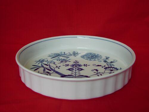 Cibulák misa zapekacia, guľatá, veľká 26 cm cibulový porcelán, originálny cibulák Dubí 1. akosť