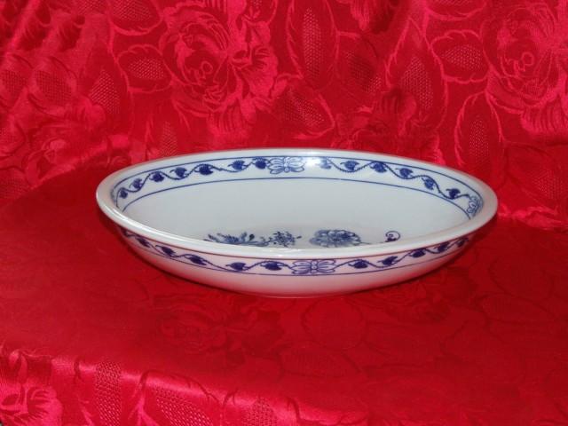 Cibulák misa zapekacia, oválna, veľká 32 cm cibulový porcelán, originálny cibulák Dubí