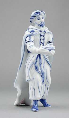 Cibulák kráľ Kašpar 16 cm cibulový porcelán, originálny cibulák Dubí 1. akosť