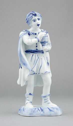 Cibulák kráľ Baltazár 16 cm cibulový porcelán, originálny cibulák Dubí 1. akosť
