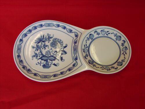 Cibulák raňajkový podnos dvojitý 29,8 x 16,7 cm cibulový porcelán, originálny cibulák Dubí 1. akosť