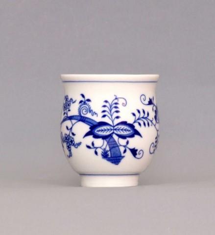 Cibulák pohárik na čaj 0,18l cibuľový porcelán, originálny cibulák Dubí 1. akosť