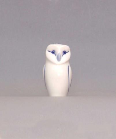 Cibulák sova - mini 7,5 cm cibulový porcelán, originálny cibulák Dubí 1. akosť