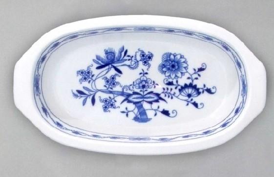 Cibulák misa zapekacia s ušami 25 x 14 x 4 cm cibulový porcelán, originálny cibulák Dubí 1. akosť