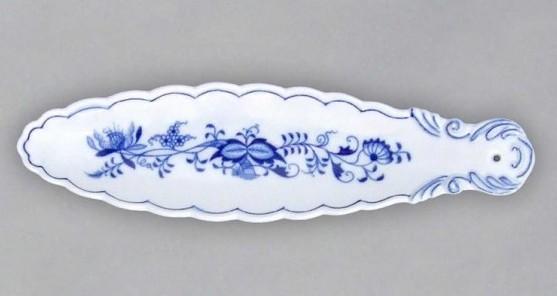 Cibulák stojan na vonnú tyčinku 1,7 x 6 cm cibulový porcelán, originálny cibulák Dubí 1. akosť