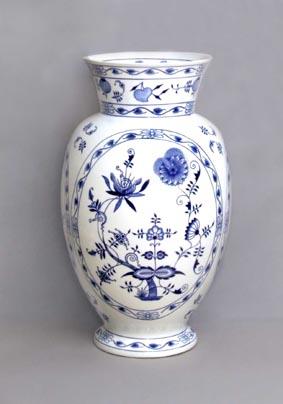Cibulak váza 1610 48 cm cibulový porcelán, originálny cibulák Dubí 1. akosť