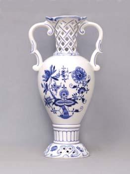 Cibulák váza prelamovaná 566/1 30 cm cibulový porcelán, originálny cibulák Dubí