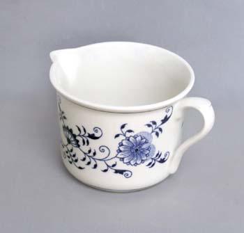 Cibulák hrnček Varák veľký s hubicou 0,90 l cibuľový porcelán, originálny cibuľák Dubí, 1. akosť