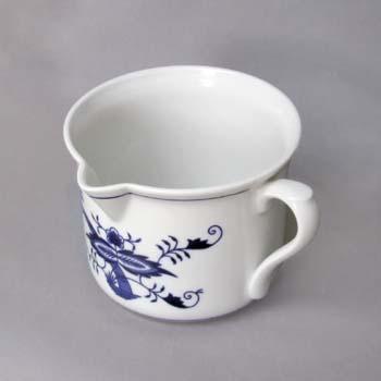 Cibulák hrnček Varák veľký s náustkom a bočným uchom 0,90 l cibuľový porcelán, originálny cibuľák Dubí, 1. akosť
