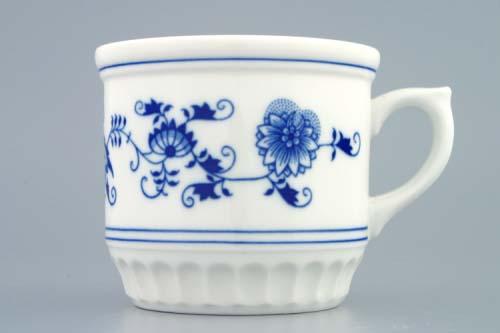 Cibulák hrnček Sedliacky 0,42 l cibuľový porcelán, originálny cibuľák Dubí, 1. akosť