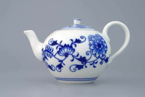 Cibulák kanvica čajová s viečkom 0,35 l cibulový porcelán, originálny cibulák Dubí 1. akosť