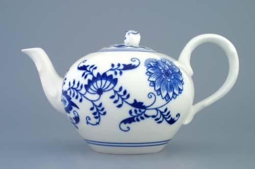 Cibulák kanvica čajová a s viečkom 0,95 l cibulový porcelán, originálny cibulák Dubí, 1. akosť
