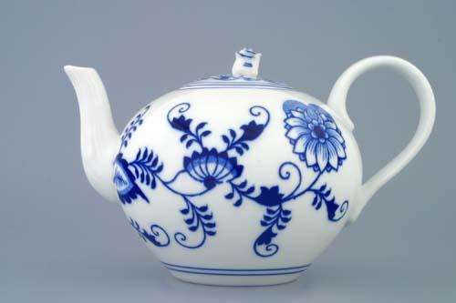 Cibulák kanvica čajová s viečkom 1,2 l cibulový porcelán, originálny cibulák Dubí 1. akosť