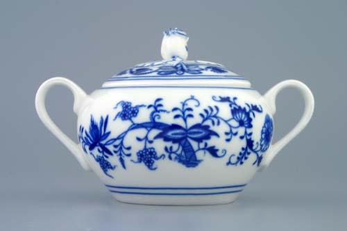 Cibulák cukornička s uškami bez výrezu 0,30 l cibulový porcelán originálny cibulák Dubí 1. akosť