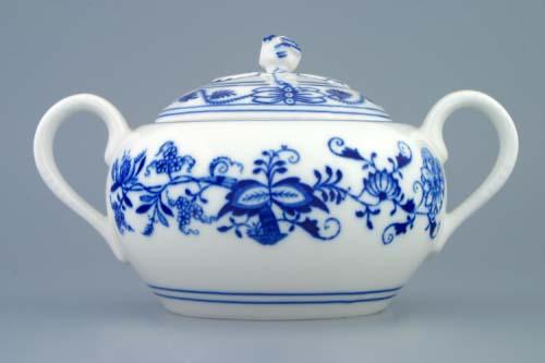 Cibulák cukornička s uškami, bez výrezu 0,50 l cibulový porcelán, originálny cibulák Dubí, 1. akosť