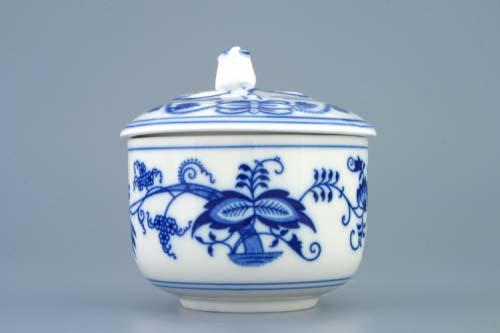 Cibulák cukornička s viečkom bez výrezu 0,20 l cibulový porcelán originálny cibulák Dubí 1. akosť