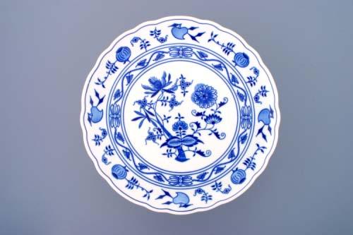 Cibulák tanier tortový na nohe 31 cm cibulový porcelán, originálny cibulák Dubí 1. akosť