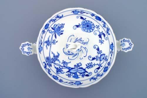 AKCIA -20% Cibulák misa zeleninová okrúhla s vekom bez výrezu 2,0 l cibulový porcelán, originálny cibulák Dubí 1. akosť
