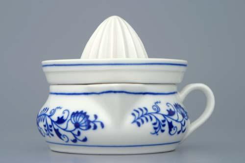 Cibulak lis na citróny / dvojdielny komplet 10 cm cibulový porcelán, originálny cibulák Dubí 1. akosť