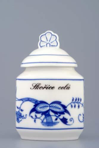 Cibulák korenička s viečkom a nápisom podľa špecifikácie 0,20 l, cibulový porcelán, originálny cibulák Dubí, 1. akosť