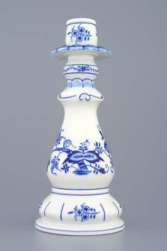 Cibulák svietnik 1982 21,5 cm cibulový porcelán originálny cibulák Dubí 1. akosť