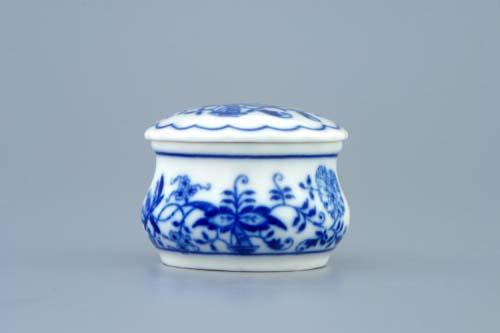 Cibulák dóza pilulník s viečkom 5 cm cibulový porcelán, originálny cibulák Dubí