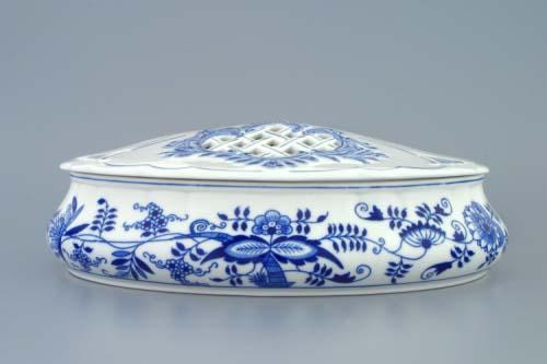 Cibulák bomboniera oválna svekom, obsah 1kg ,cibulový porcelán, originálny cibulák Dubí, 1. akosť