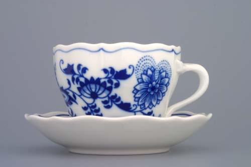 Cibulák šálka + podšálka A / 1 + A / 1 0,12l cibulový porcelán, originálny cibulák Dubí 1. akosť